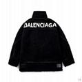 Balenciaga logo print fur jacket Women/men fur oversized jacket coats