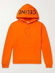 HOMME Logo Print Cotton Jersey Hoodie Fashion cotton sweatshirts