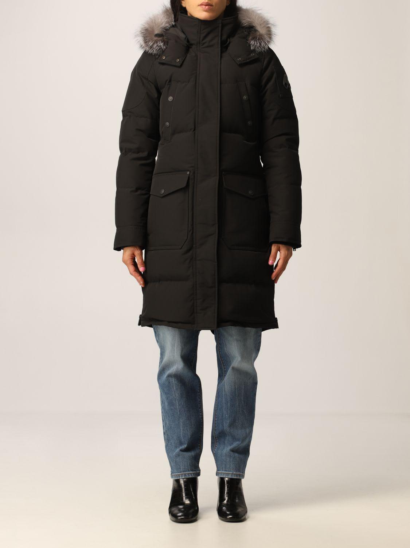 MOOSE KNUCKLES Salmon River Long Puffer Jacket Women fur winter snow jacket