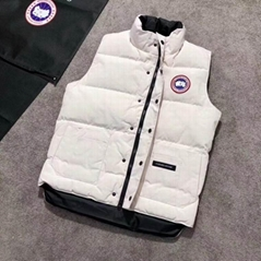 White Freestyle quilted shell down vest Fashion winter vest