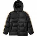 Men GG jacquard nylon padded coat Women down parka coat