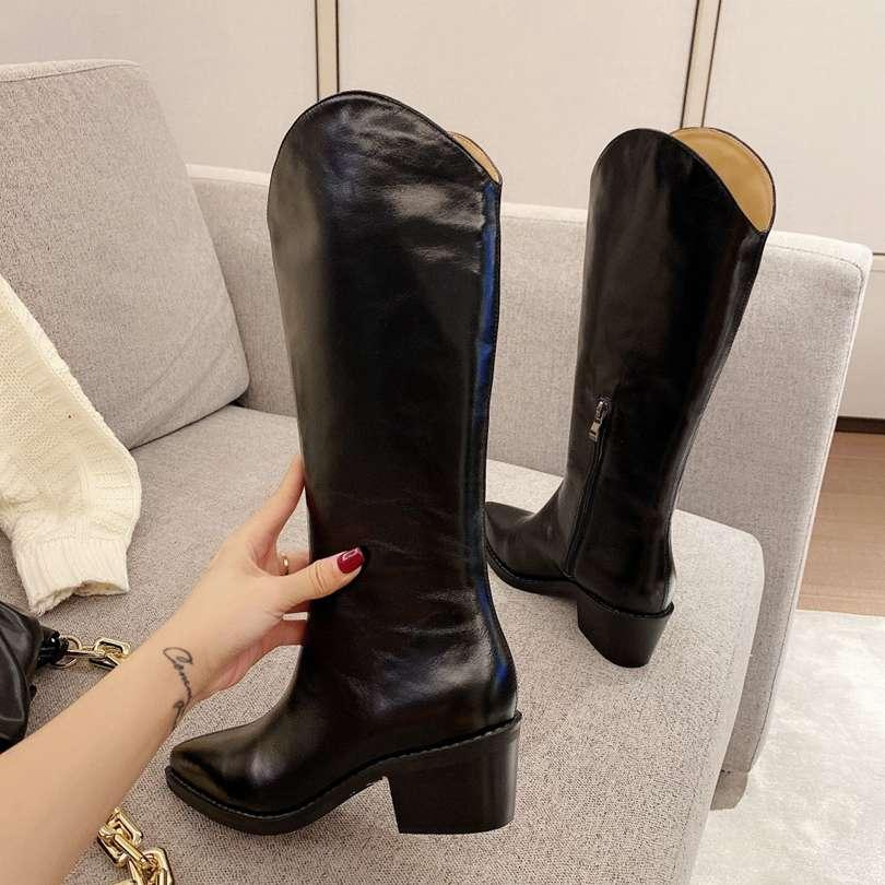 Isabel Marant leather Martin knee high boots