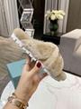 Prada shearling flat sandals