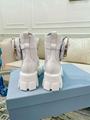 Prada white leather and nylon monolith ankle boots Women platform boots