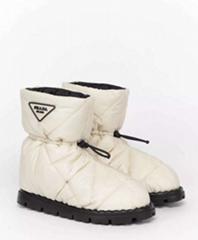 PRADA BLOW QUILTED SNOW BOOT Women prada Winter snow boots