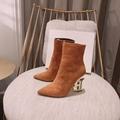 Balmain Women's Black Nicole Ankle Boots Fashion Balmain 95 Suede Boots