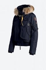 Fur Hooded Gobi Girl Bomber Jacket Navy blue