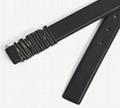 AMIRI logo-plaque leather belt AMIRI BLACK ENAMEL BUCKLE BELT BLACK