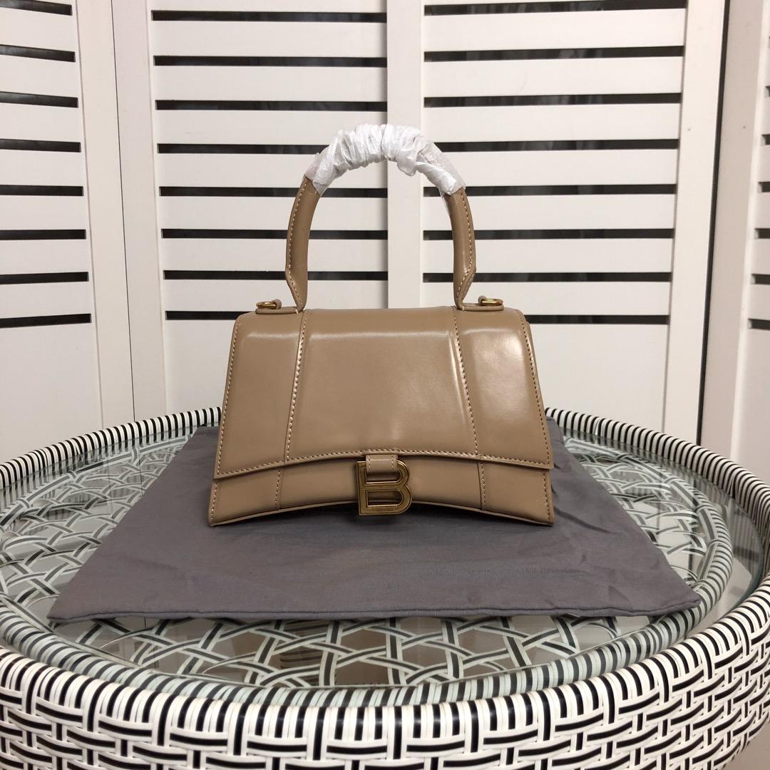 BALENCIAGA Hourglass Small leather tote Women's Hourglass top handle small bag