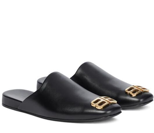 BALENCIAGA Cosy BB leather slippers Cosy Bb Leather Mules black smooth calfskin