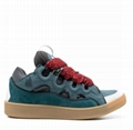 Lanvin Curb Lace-Up Skate Sneakers Lanvin leather and suede shoes