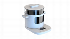 Glass health pot (heat pot)