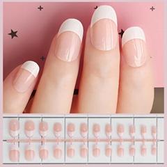 False Nail French Fake Nails Detachable tips Nail Extension Manicure Art