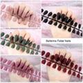 24pcs Matte False Nails Colorful