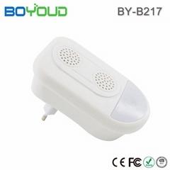 家用无辐射安全直插式超声波小夜灯双喇叭驱虫器