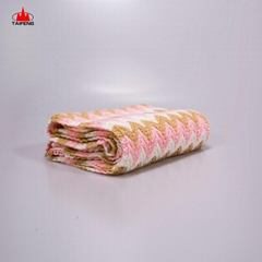 wholesale 100%acrylic soft feel knitted baby blanket