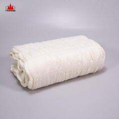 Super soft striped pattern organic baby knit shawl bed blanket