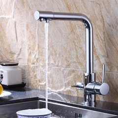 Copper water purification kitchen faucet
