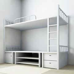 員工宿舍上鋪下雙層鐵架床廠家供應