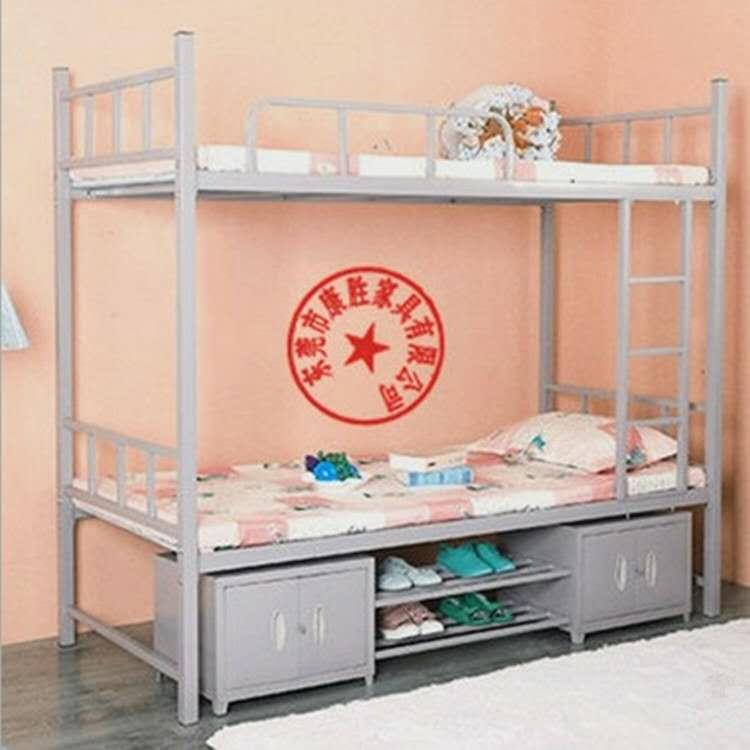 員工宿舍上鋪下雙層鐵架床廠家供應 3