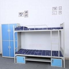 双层上下铺铁架床员工学生宿舍床