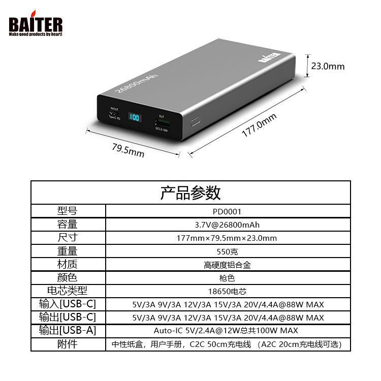 PD 100W移动电源 3