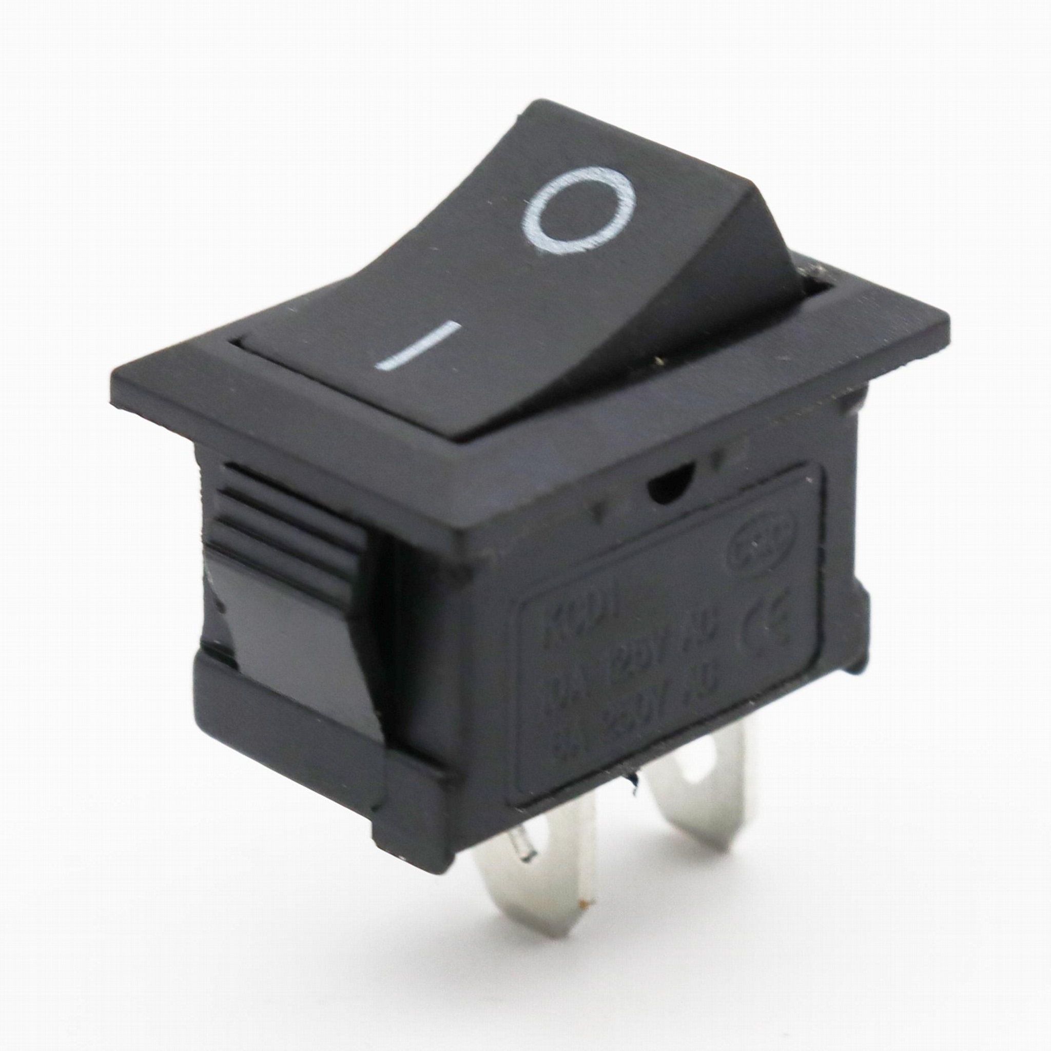 KCD1-101-1 21*15mm 2pins rocker switches 3