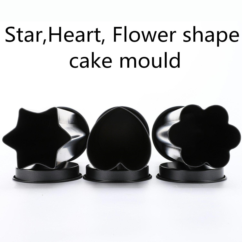 Non Stick Star Shape Cake Mould - Eco-Friendly Heart Baking Cake Mold   1