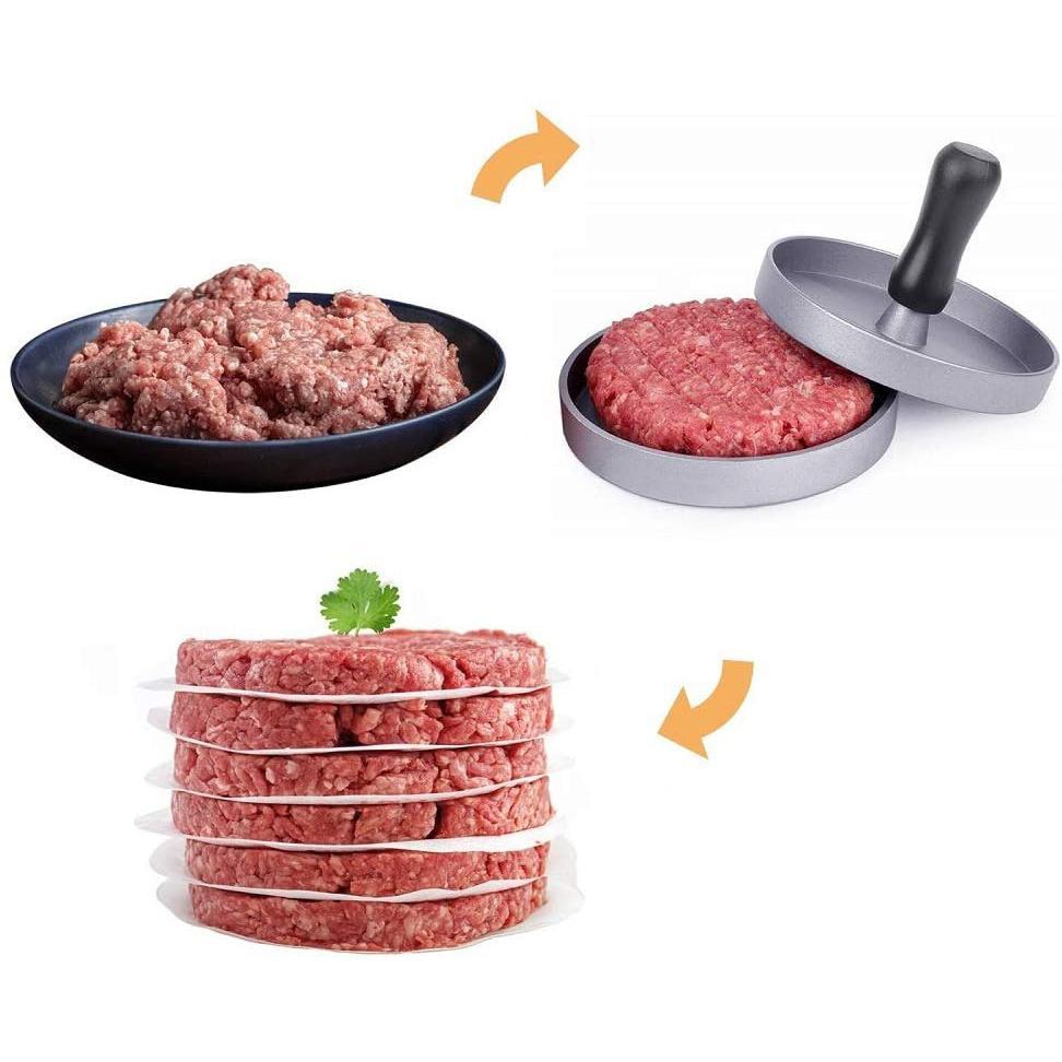 Hamburger Press Aluminum Alloy Hamburger Meat Beef Grill Burger Press Patty Make 5