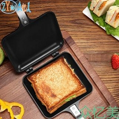 Double Sided Grill Pressure Sandwich Waffle Maker Frying Pan