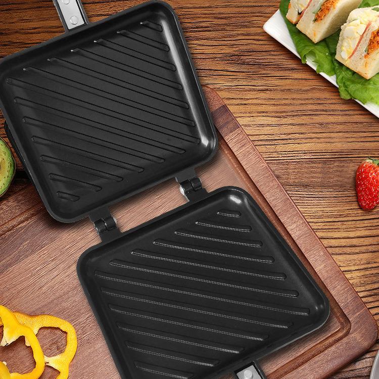 Double Sided Grill Pressure Sandwich Waffle Maker Frying Pan  2