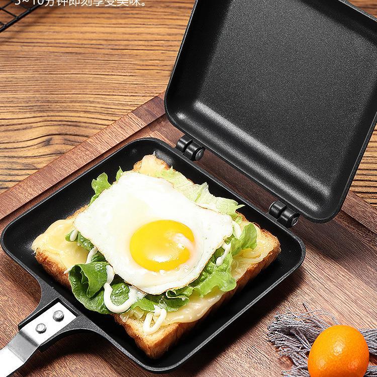 Double Sided Grill Pressure Sandwich Waffle Maker Frying Pan  3