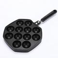 High Quality Household 12 Holes Takoyaki Octopus Balls Mold Maker Frying Pan 5