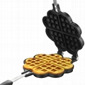 Double Side Loveheart  Waffle Machine Maker Frying Pan 5