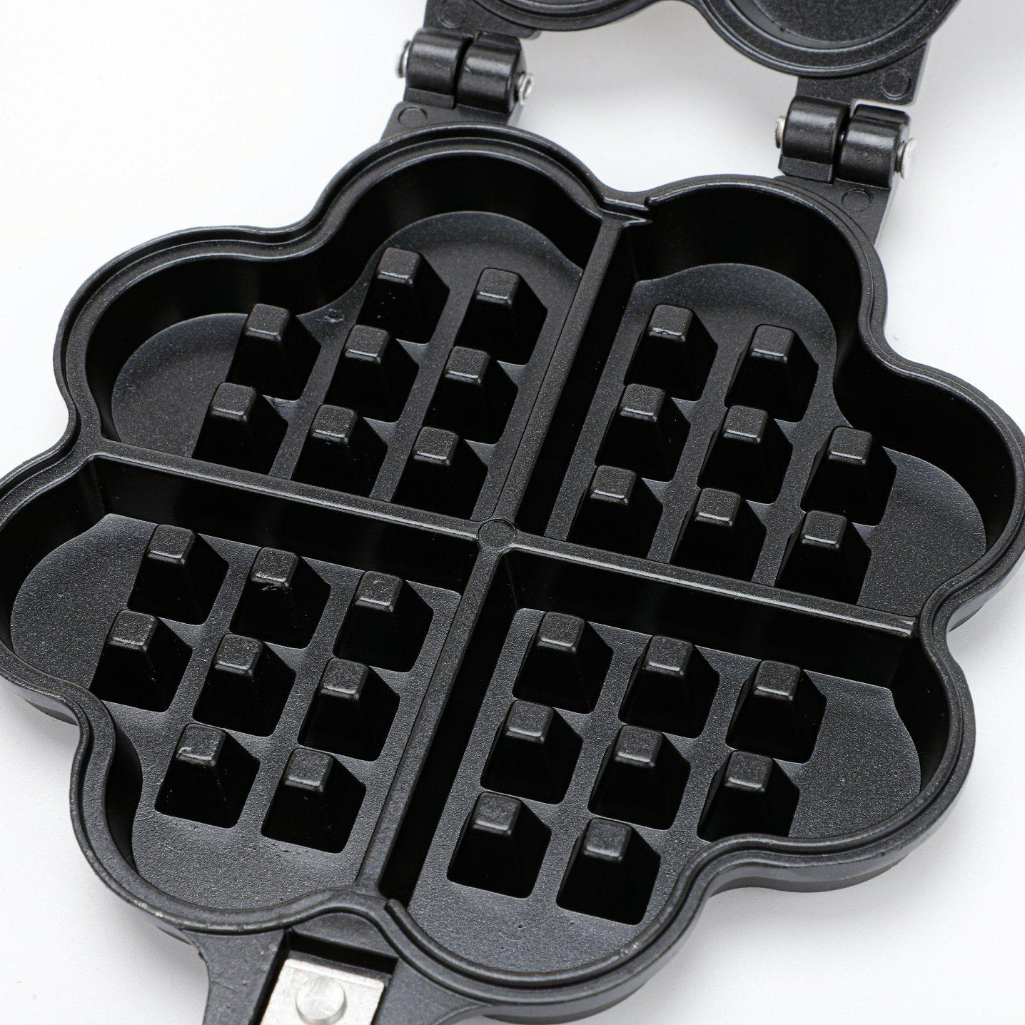 Double Side Loveheart  Waffle Machine Maker Frying Pan 3