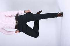 Custom Made Latest Design Flat Front Slim Zipper Fly Cotton Straight Man Pants