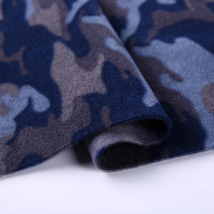 New design soft knitted polar fleece fabric camo 100%polyester for jacket men  4