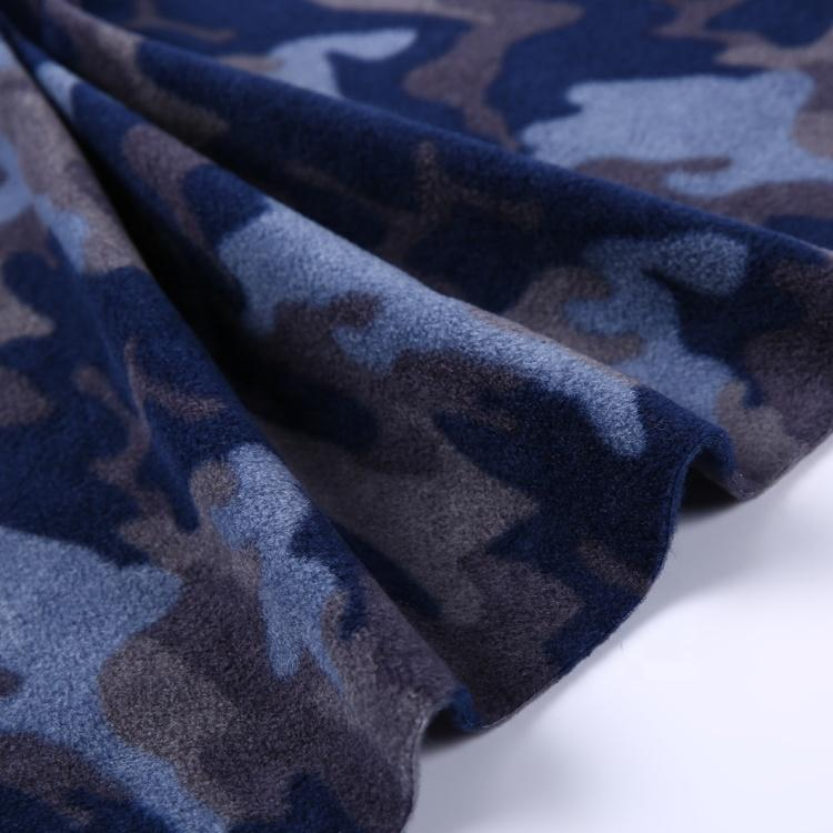 New design soft knitted polar fleece fabric camo 100%polyester for jacket men  5