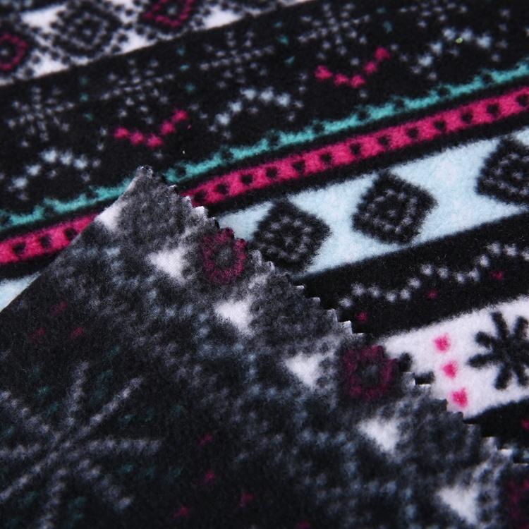 Cheap price 100% polyester scarf printed micro blizzard fleece fabric  4
