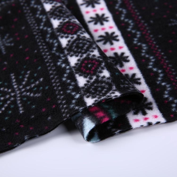 Cheap price 100% polyester scarf printed micro blizzard fleece fabric  5