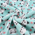 High quality 100% polyester material custom print fleece fabric knit for blanket 4