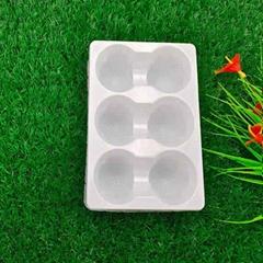 厂家定制PVC盐浴球泡泡脚吸塑包装内托 6格装足浴球吸塑内衬吸塑