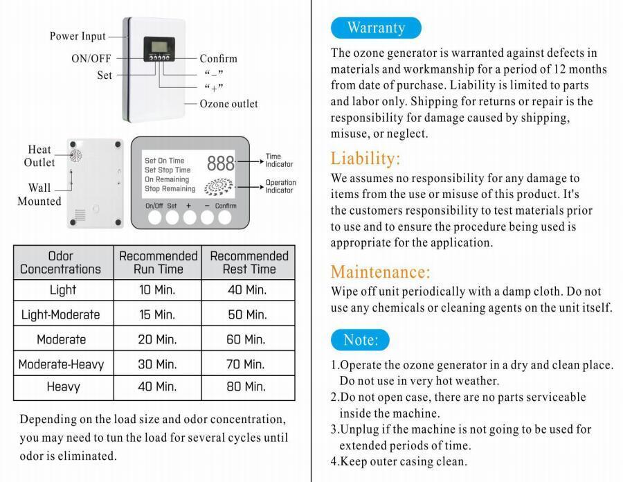 家用臭氧消毒機果蔬除菌機除二手煙粉塵甲醛空氣淨化器富養水殺菌 2