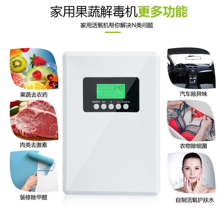 家用臭氧消毒机果蔬除菌机除二手烟粉尘甲醛空气净化器富养水杀菌 5