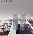 現貨凍干水粉混合一體瓶化妝品PCTG材質精華瓶功能性產品必用包材 2