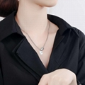 Fashion jewelry love S925 pure si  er luck necklace 5