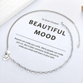 Fashion jewelry love S925 pure si  er luck necklace 2