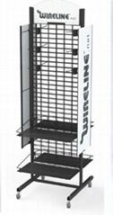 Floor-to-ceiling double screen display rack