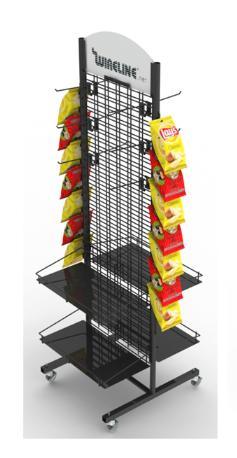Floor-to-ceiling double screen display rack 2