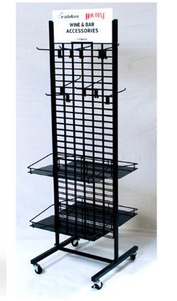 Floor-to-ceiling double screen display rack 3
